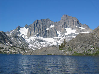 Banner Peak - Banner Peak (right) and Mount Ritter from Garnet Lake.
