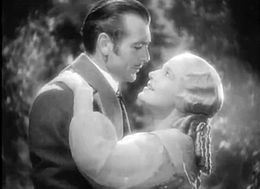 Screen capture of Gary Cooper and Ann Harding