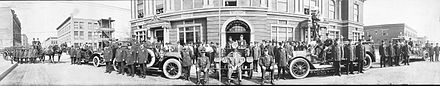 Historical photo of the Gary Fire Department in 1914 Garys Fire fighters 1914.jpg