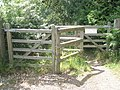 Gate approaching Prospect Lane on the footpath from Northcroft Road - geograph.org.uk - 1361695.jpg