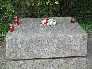 Adolf Clarenbach - Memorial stone to Adolf Clarenbach and Peter Fliesteden