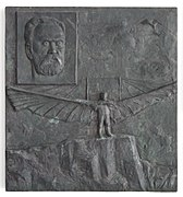 Gedenktafel Flugplatz Jahnsdorf - Otto Lilienthal.jpg