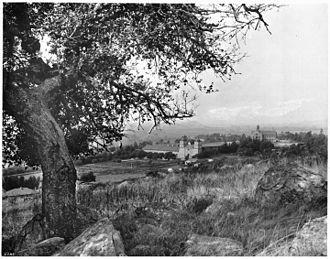 Mission Park, Santa Barbara - View of the Mission (and future park land), circa 1901-04