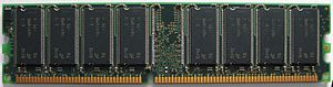 DDR SDRAM - Generic DDR-266 memory in the 184-pin DIMM form