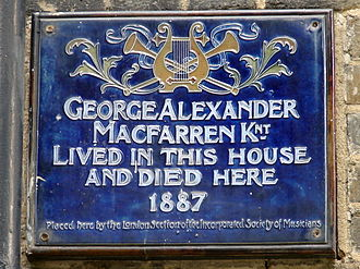 George Alexander Macfarren - Plaque on the house