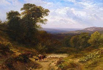 George Cole (artist) - Image: George Cole Pastoral landscape