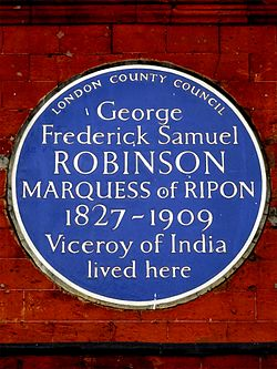 George frederick samuel robinson marquess of ripon 1827 1909 viceroy of india lived here