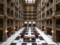 George Peabody Library, formerly the Library of the Peabody Institute of the City of Baltimore, is part of the Johns Hopkins Sheridan Libraries. Baltimore, Maryland LCCN2013646467.tif