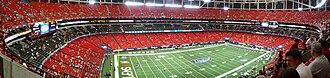 2008 Alabama Crimson Tide football team - Image: Georgia Dome 2008 08 30 2