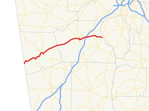 Georgia State Route 34 - Image: Georgia state route 34 map