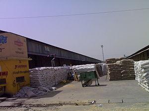 Gharsana tehsil - A view of grain market at Gharsana.