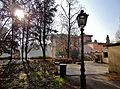 Giardino storico di villa Ghirlanda . Neve e piante spoglie-.JPG