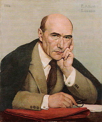 Paul Albert Laurens - Portrait d'André Gide by Laurens (1924). Laurens and Gide were friends, and they lived for a time in Algeria.