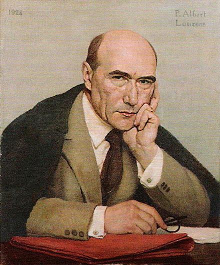 André Gide gemalt von Paul Albert Laurens (1924)