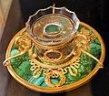 Giuseppe valadier, calamaio e penna in bronzo dorato, malachite, cristallo di rocca e oro, 01.jpg