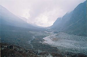 West Sikkim district - Image: Glacier valley, near Thangshing