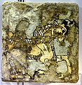 Glazed brick depicting a wild goat, from Nimrud, Iraq, 9th-7th century BCE. Iraq Museum.jpg