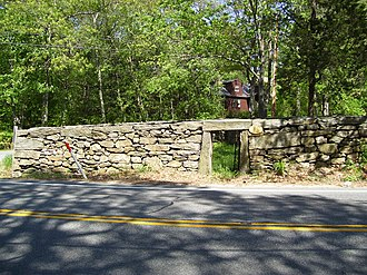 Animal pound - The town pound of Glocester, Rhode Island, c. 1748