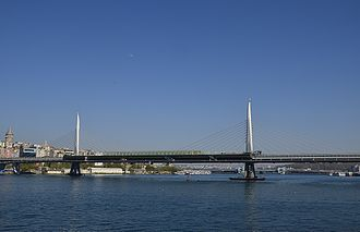Istanbul Metro - The Golden Horn Metro Bridge entered service in 2014.