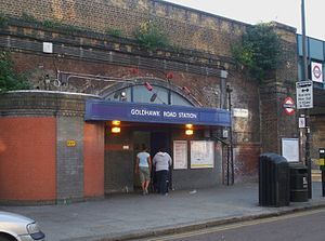 Hammersmith & City line - Image: Goldhawk Road stn east entrance