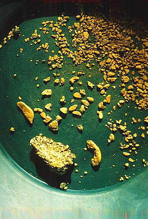 Gold prospecting - Image: Goldinpan