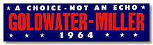 "Goldwater-Miller ""A Choice – Not An Echo"" campaign logo"