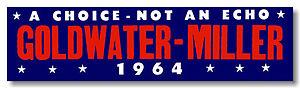 "Goldwater-Miller ""A Choice – Not An Echo"" campaign logo"