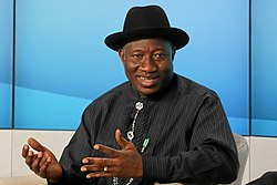 Goodluck Jonathan World Economic Forum 2013 (2) (cropped)