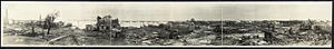 Goose Creek Oil Field - Panorama of the field after the 1919 hurricane destroyed over 1,400 oil derricks