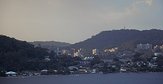 Gosford - The skyline of Gosford at dusk