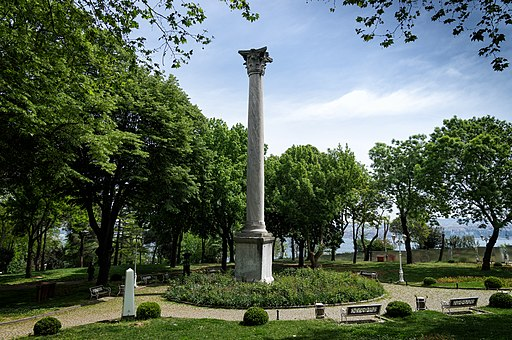 Column of the Goths, Gulhane Park, Istanbul, 2017, Wikimedia Commons