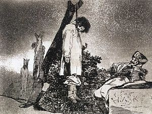 Etching by Francisco Goya.