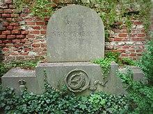 Grab (Reste des ehemaligen Arkadengrabes) von Georg Reichenbach auf dem Alten Südlichen Friedhof in München Standort48.12686111111111.563944444444 (Quelle: Wikimedia)
