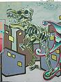 Graffiti Hamburg The T-Rex is free.JPG