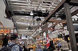 The Winter Market - A 2010 photograph of the interior of the Granville Island public market, on which the market of the story's title is based
