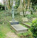 Grave of Anna Mahler Austrian sculpture, in Highgate East Cemetery in London 2016.jpg