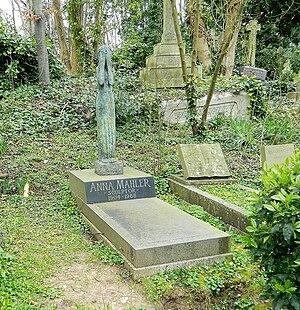 Anna Mahler - Mahler's grave in Highgate Cemetery