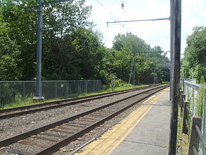 Great Notch station - The site at Great Notch station in July 2010, six months after the closing of the station by New Jersey Transit