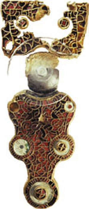 Frisian Kingdom - Great fibula of Wijnaldum from the 7th century, found in 1953