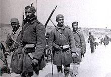 Greek troops after the battle.