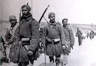 3/40 Evzone Regiment - Evzones near Ioannina, spring 1913