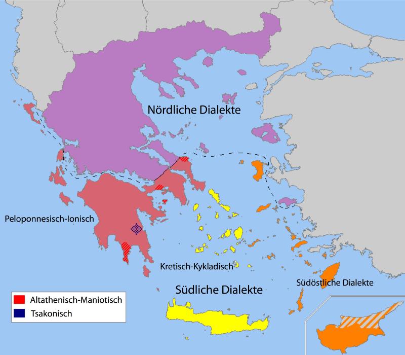 Griechenland Zypern Dialekte