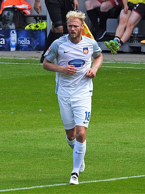 Sebastian Griesbeck - Griesbeck playing for 1. FC Heidenheim in 2017