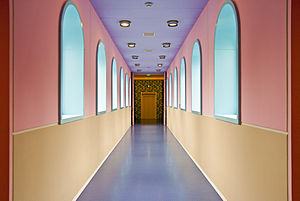 Groninger Museum - Corridor inside the museum in 2009