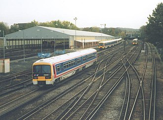 Grove Park Sidings - The large carriage shed of the Down sidings