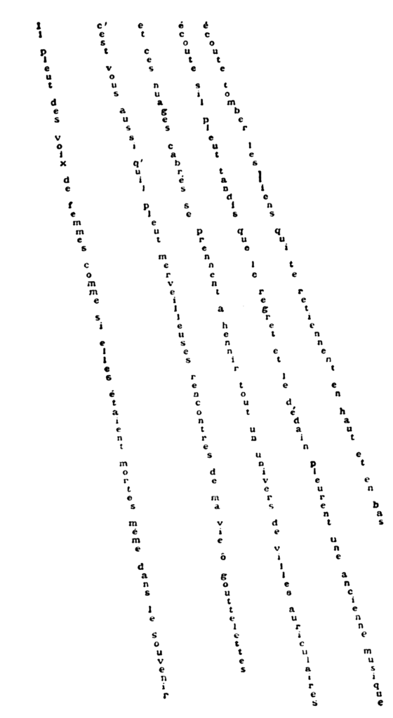 File Guillaume Apollinaire   Calligramme   Il pleut as well 2007022047481 in addition 11039345 besides File three lines ornament black up left furthermore File Cis Trans. on 328