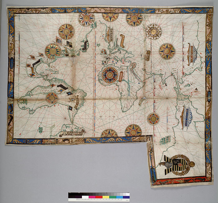 Dieppe maps wikiwand world map by guillaume brouscon 1543 gumiabroncs Image collections