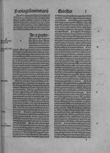 Quaestiones in quattuor libros sententiarum