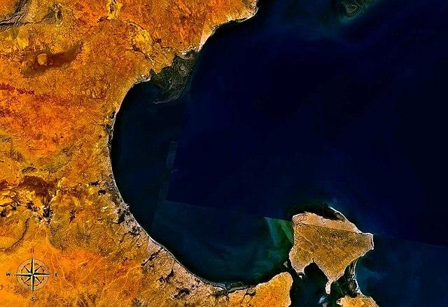 Satellitenfoto der Kleinen Syrte
