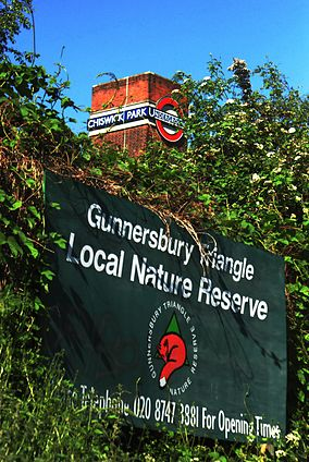Gunnersbury Triangle Local Nature Reserve by Chiswick Park Station.JPG